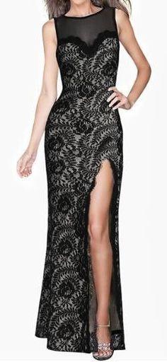 Vivimarks Black Lace Maxi Dress