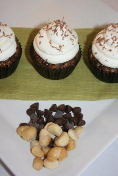 Flourless Chocolate Macadamia Nut Cupcakes