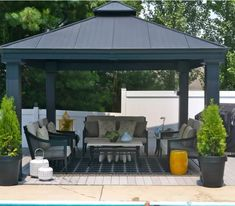 Gazebo For Patio. This awesome picture selections about Gazebo For Patio is available to save. We obtain this best photo from internet and select the top for Large Backyard Landscaping, Cozy Backyard, Backyard Gazebo, Pergola Patio, Pergola Plans, Pergola Kits, Gazebo Roof, Diy Patio, Landscaping Ideas