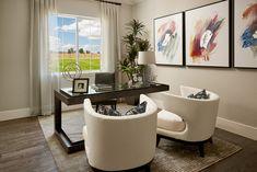Explore the Harmon floor plan Corporate Office Design, Modern Office Design, Office Interior Design, Office Interiors, Richmond American Homes, Commercial Office Design, Industrial Office Design, Solid Wood Desk, Model Homes