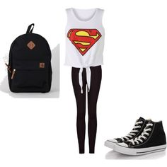 """Fashion for school!!"" by kelly-vong on Polyvore #superman"