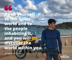 Model Pietro Boselli shares how travel has changed his life, letting him see life from a different perspective, and what he plans to do next. Pietro Boselli, Different Perspectives, Celebrity Travel, Italy Travel, Interview, How To Plan, Reading, Celebrities, Fitness
