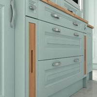Radlett WD7 Beaded Shaker finished in Cornflower Blue with handy wooden pullout tray sections