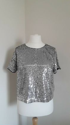 Stunning New Look Sequin Silver Black Top Jumpers For Women, Cardigans For Women, Crombie Coat, New Look Women, Black Peach, Sequin Wedding, Cotton Jumper, Poncho Tops, Sale Uk