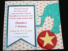 Circus theme invitation.  Love.