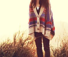 oversized mexican poncho sweater