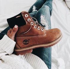 Comfortable tan boots.
