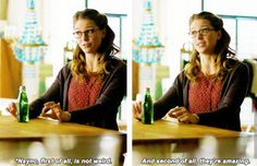"""""""But finally, I let it go. Let you do your own thing, find your own hobbies, listen to your own weird music"""" #Supergirl #Season2 #2x05"""