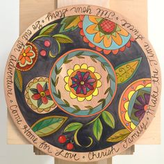Sticks Lazy Susan 78119 by Sticks Sticks Furniture, Vivid Imagery, Decoupage, Painted Plates, Hand Painted Furniture, Art Deco Design, Pyrography, Altered Art, Wood Art