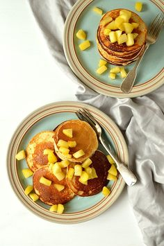 sugar free oat and spelt pancakes with cinnamon apples - light, fluffy ...