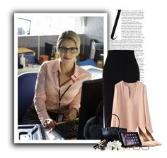 Felicity Smoak (Arrow - Season 1) by ameve on Polyvore featuring polyvore, fashion, style, Proenza Schouler, Salvatore Ferragamo, Lodis, Chanel, GlassesUSA, Kate Spade and clothing