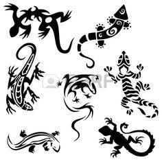 http://us.123rf.com/450wm/medwedd/medwedd1203/medwedd120300010/12788555-tatuaggi-lucertole-raccolta-sette-sagome.jpg