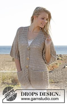 Ravelry: 0-918 Jacket - Size: S - XXXL. pattern by DROPS design