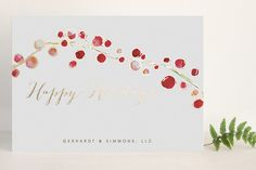 Holly and Berries by Erin Deegan for minted.com