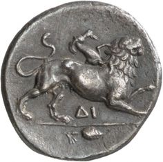Triemidracma (1 1/2) - argento - Corinto, Acaia, Grecia (IV sec. a.C.) - la Chimera - Münzkabinett der Staatlichen Museen Berlin