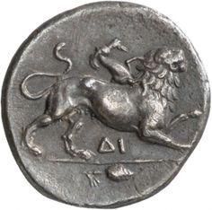 Triemidracma (1 1/2 dracma) - argento - Corinto, Acaia, Grecia (IV sec. a.C.) - la Chimera vs.dx.- Münzkabinett Berlin