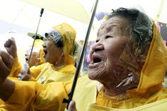 South Korean women, who were former WWII sex slaves, and their supporters protesting outside the Japanese embassy in Seoul, demanding compensation and an official apology from Japan, which ran a system of military brothels before its surrender in Ww Girl, South Korean Women, Communication Theory, Women In History, Oppression, Change The World, Strong Women, Korean Girl, Equality