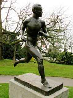 """Paano Nurmi"" by Wäinö Aaltonen Helsinki Stadium, Finland Antiquities, Helsinki, Finland, Statues, Olympics, Garden Sculpture, Hero, Sport, Sculptures"