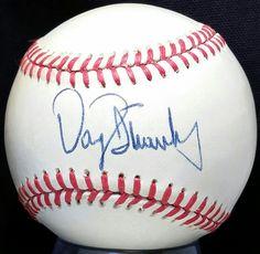 1980s DARRYL STRAWBERRY Signed ONL Feeney Baseball ROOKIE ERA Mets Team vtg auto