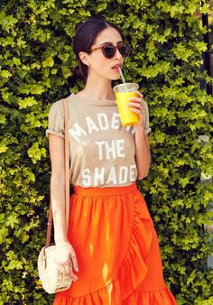 How LA gal-about-town Frannie Gilligan wears our graphic tee for work, weekend…and wherever! Read more at jcrew.com/blog.