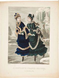 Ice Skating, Fashion plate , 1874