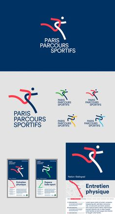 French design studio Graphéine has been asked to work on the visual identity for Paris Sports Courses. #graphicdesign