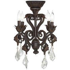 4-Light Oil-Rubbed Bronze Chandelier Ceiling Fan Light Kit $200