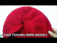 Pazı Tohumu Bere Modeli bayanlar için - YouTube Baby Knitting Patterns, Knitting Designs, Knitting Projects, Crochet Towel, Knit Crochet, Crochet Hats, Knitting Videos, Knitting For Beginners, Crochet Hooded Scarf