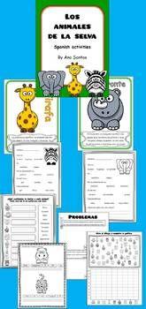 LOS ANIMALES DE LA SELVA- SPANISH RESOURCES - TeachersPayTeachers.com