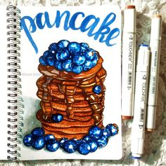 Omg that looks so delicious Copic Marker Art, Copic Art, Copic Markers, Art Drawings Sketches, Cute Drawings, Chocolate Drawing, Chibi Kawaii, Randy Cunningham, Food Sketch