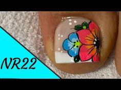 Pedicure, Nails, Nail Ideas, Youtube, Finger Nails, Toe Nail Art, Pretty Toe Nails, Pedicures, Ongles