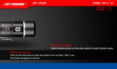 Jetbeam E10R XPL-HI 650LM 14500 / AA EDC LED Flashlight