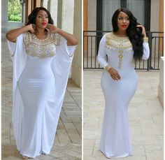 Follow me for more pins @KAMM23✨ African Attire, African Wear, African Fashion Dresses, African Dress, Fashion Outfits, Big Girl Fashion, Curvy Fashion, Plus Size Fashion, White Outfits