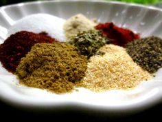 Make and share this Adobo Seasoning recipe from Genius Kitchen. Adobe Seasoning, Seasoning Mixes, Sazon Seasoning, Creole Seasoning, Homemade Spices, Homemade Seasonings, Spice Blends, Spice Mixes, Curry