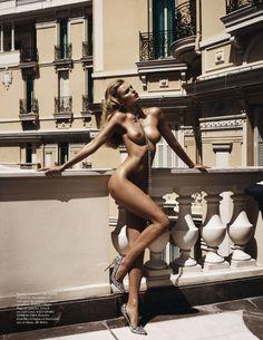 Edita Vilkeviciute by Mario Testino for Vogue Paris, October 2013