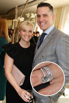 Engagement Jewelry Reese Witherspoon and Jim Toth. Jim Toth secured his spot in Reese Witherspoon's heart with this four-carat stunner. Read more: Top 25 Celebrity Rings, Celebrity Engagement Rings, Celebrity Jewelry, Engagement Jewelry, Celebrity Weddings, Wedding Engagement, Diamond Engagement Rings, Wedding Bands, Emerald Cut Engagement