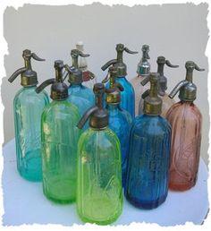 Bouteilles d'eau de Seltz