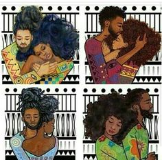 black couple go at it