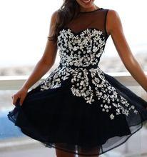 Sexy o- hals mouwloze korte zwarte homecoming jurk 2015 nieuwe hete zwarte afstuderen jurk vestidos feestjurk prom dress v50(China (Mainland))