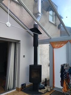 Wood burning stove ideas patio ideas for 2019 Conservatory Extension, Conservatory Kitchen, Conservatory Design, Conservatory Furniture, Garden Room Extensions, House Extensions, Grey Wood Tile, Off White Walls, Log Burner