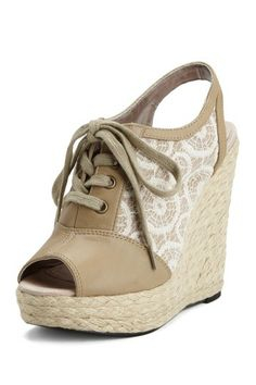 Charlotte Ronson Lace-Up Espadrille Wedge