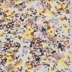 Ecru Floral Shirting