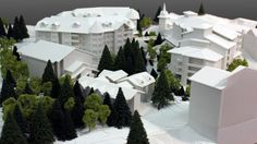 New Taos Base Area. | #3DPrinted #3DPrinting #Architecture #White #Model