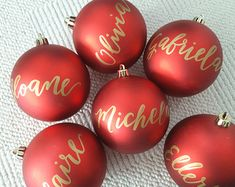 Personalized CHRISTMAS ORNAMENT Hand Lettered calligraphy - One (name only)