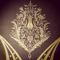 Instagram fotoğrafı: Oksana Pavlovna • 21 Temmuz 2015, 17:01 Embroidery Motifs, Gold Embroidery, Embroidery Dress, Islamic Patterns, Skull Art, Islamic Art, Indian Art, Painting On Wood, Damask