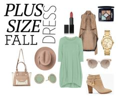 """""""Plus Size Dress - Fall"""" by vogue-barbiex ❤ liked on Polyvore featuring Mat, Isolde Roth, White House Black Market, Miss Selfridge, Marc, Michael Kors, Christian Dior and NARS Cosmetics"""