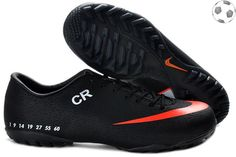 Authentic Limited Edition Nike Mercurial Vapor style cristiano ronaldo CR  exclusive personal TF shoes black orange 829f7e8ade392