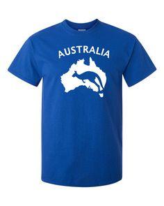 Aussie Australia Patriotic Kangaroo Shape Logo T Shirt Tee Fan Socceroos | eBay