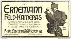 Original - Werbung/ Anzeige 1916 : ERNEMANN FELDKAMERAS DRESDEN - ca. 80 x 45 mm