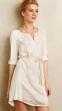 Paperwhites Embroidered Shirtdress |  via @stylelist
